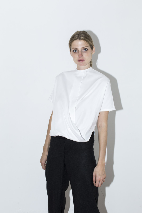 Assembly New York White Cotton Twist Top