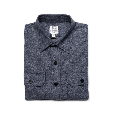 Product Of Bob Scales Cotton Flannel Shirt - Heather Blue