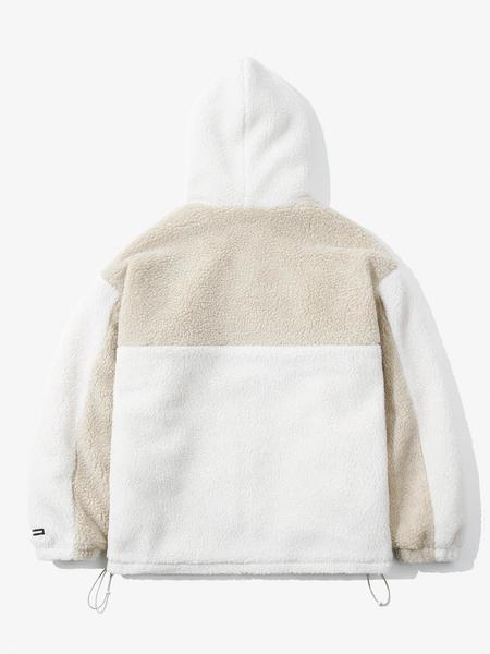 LAYER UNION UL CB Hooded Sherpa Jacket - Ivory