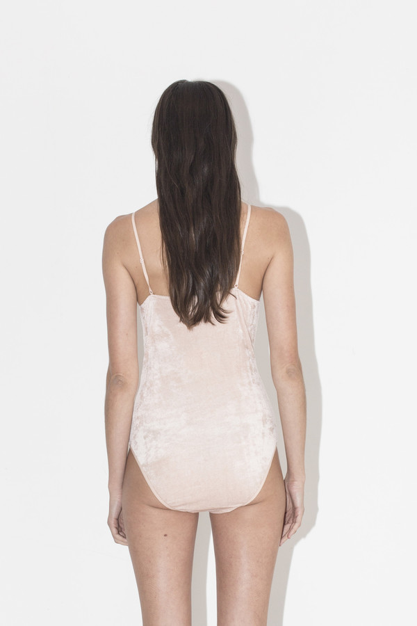Baserange Rosy Velour Bodysuit