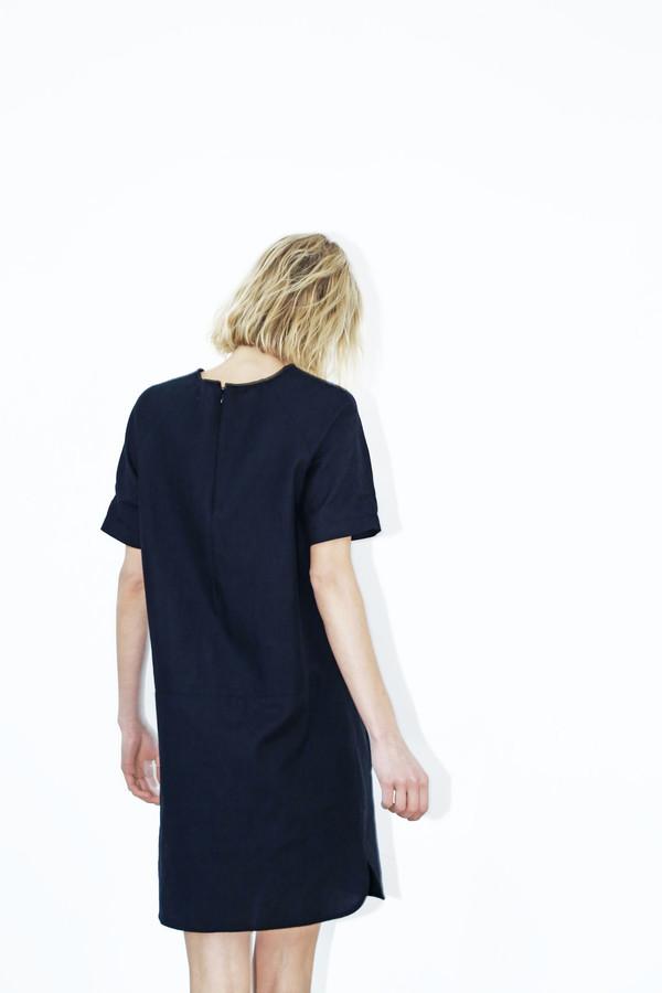 Black Cotton Raglan Dress