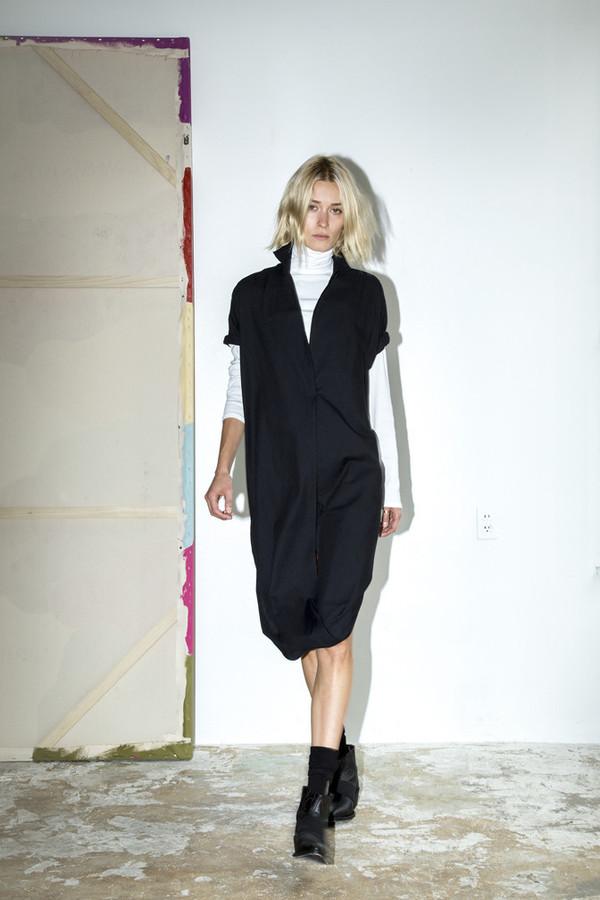 Assembly New York Black Cotton Twist Dress