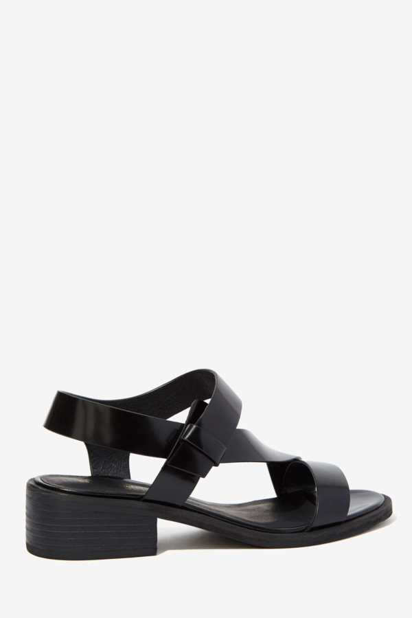 Intentionally Blank Black Emmit Sandal
