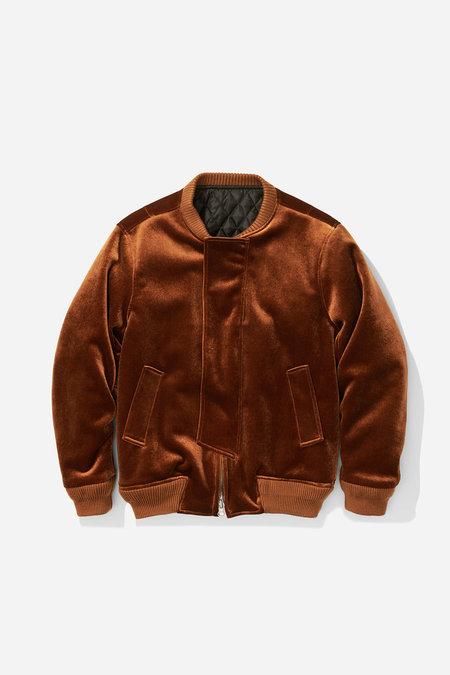 Saturdays NYC Calvin Velvet Flight Jacket - Burnt Khaki