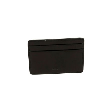 Il Bussetto Card Holder in Coloured Leather - Black