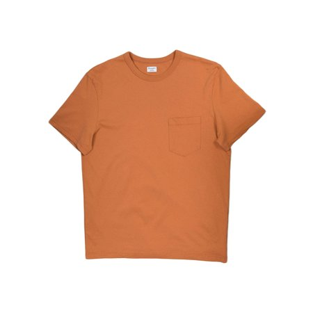 Homespun Knitwear Dad's Pocket Tee - Rust