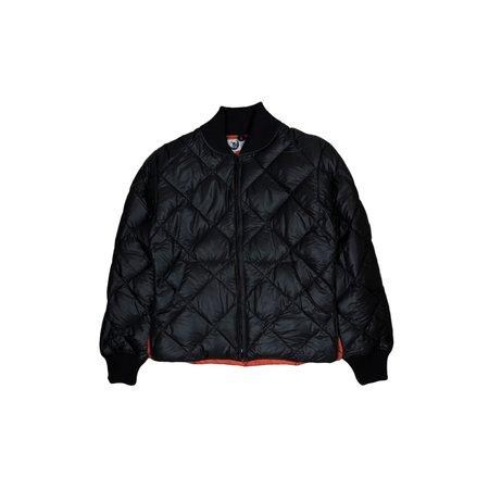 CRESCENT DOWN WORKS Diagonal Quilt Jacket - Black