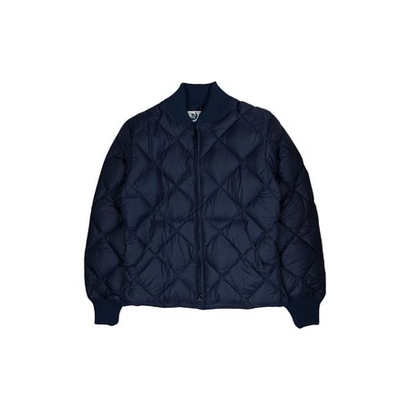 CRESCENT DOWN WORKS Diagonal Quilt Jacket - Navy