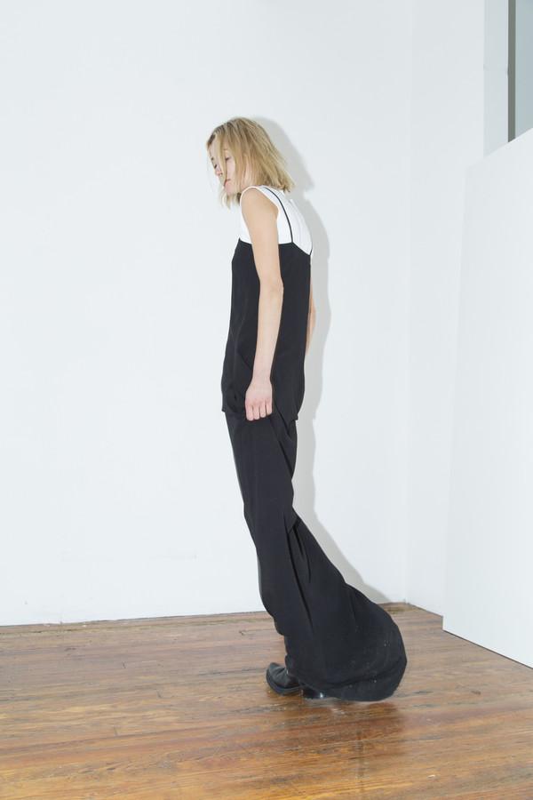 Assembly New York Black Rayon Maxi Cami Dress