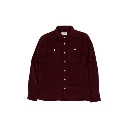 Albam Otto Corduroy Shirt - Maroon