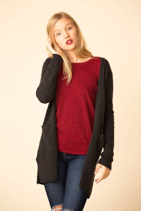 ATM Cashmere Cardigan - Charcoal