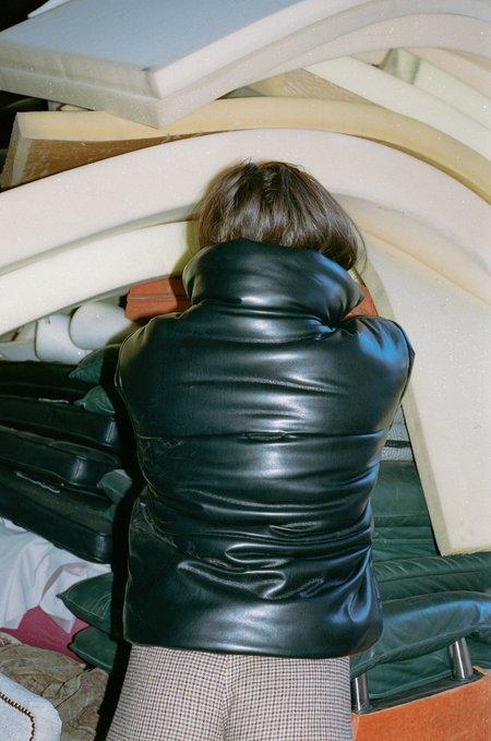 Nanushka Leather Hide Puffer Jacket - Vegan Black