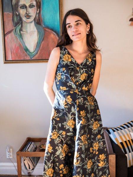 Eliza Faulkner Sonja Dress - Navy Jacquard