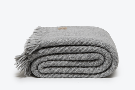Morrow Soft Goods Ellery Alpaca Throw - Grey
