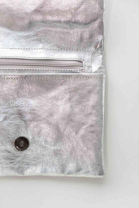 Uashmama Maru Medium Metallo Clutch - Silver
