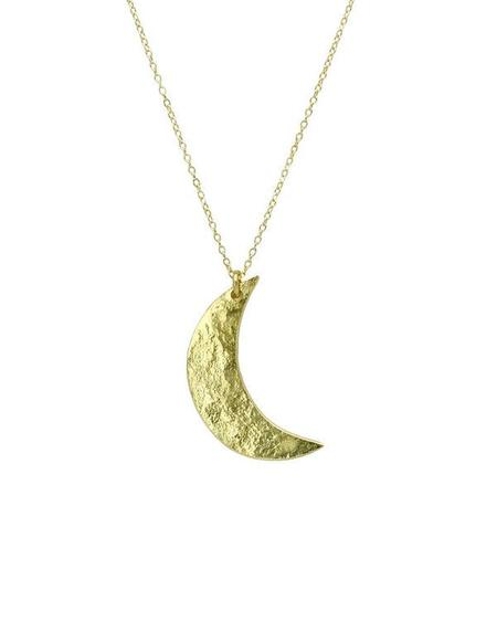 SOPHIE HUGHES Crescent Moon Necklace - 18k yellow gold