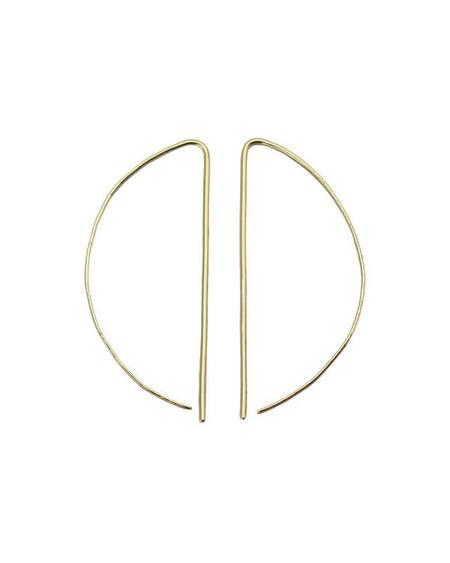 SOPHIE HUGHES Large D Hoops - 18k yellow gold