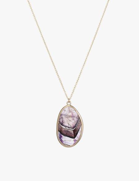 Kathryn Bentley Amethyst slice Necklace