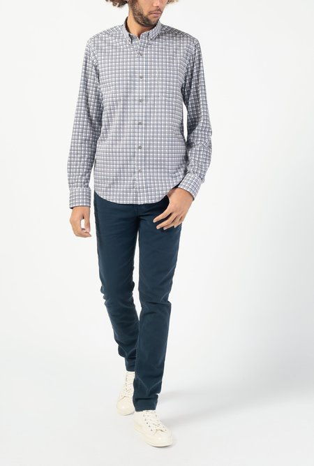 WRK Multi Colored Gingham Reworked Long Sleeve Shirt