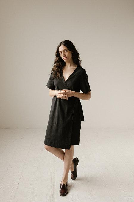 Open Air Museum Wrap Dress - Black