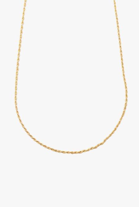 """Loren Stewart 22"""" Rope Chain Necklace - 10k Gold"""