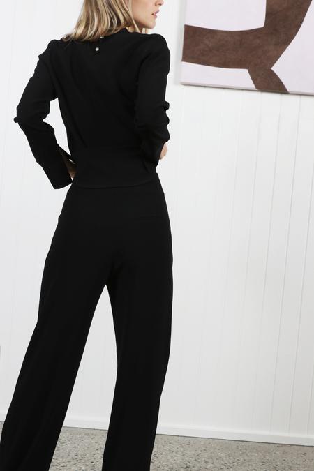 Nanushka Varsa Georgette Pant - Black