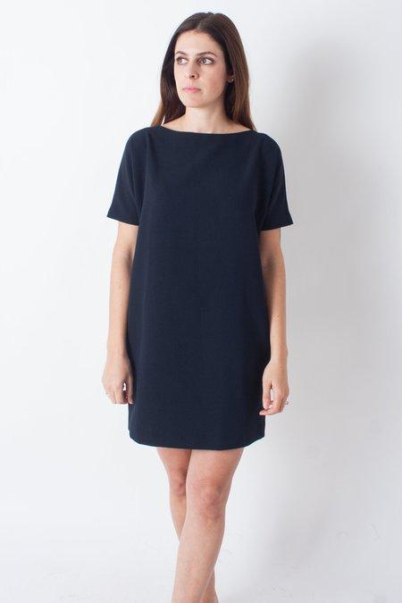 KAAREM Angle Mini Dolman Open Back Dress - Black Blue