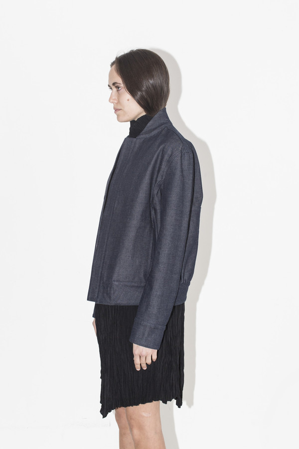 Kahle Denim Varsity Jacket