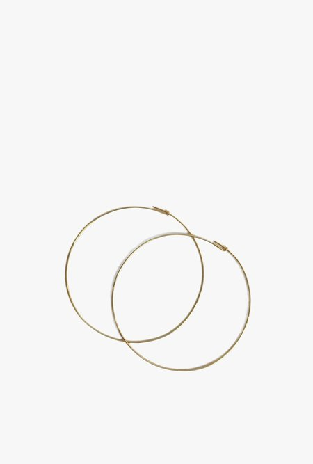 Tarin Thomas Janey Large Hoop Earrings - 14k Gold Filled / Gold Plated