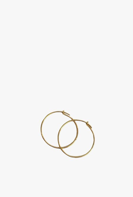 Tarin Thomas Janey Small Hoop Earrings - 14k Gold Filled/Gold Plated