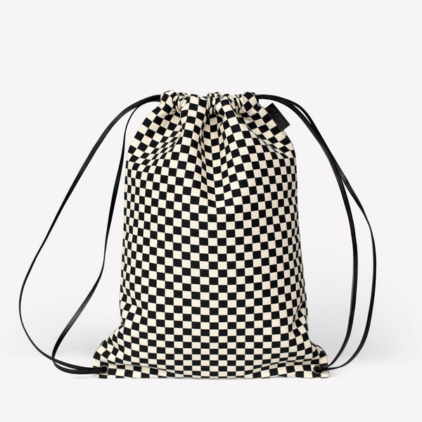 Maharam Checker Minimal Cinch Bag