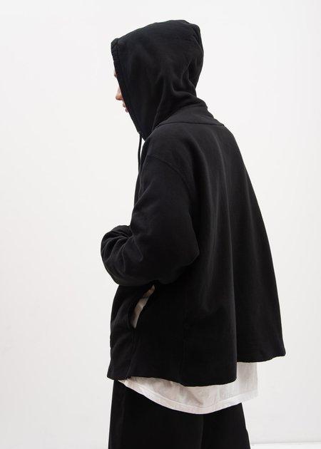 Facetasm Fraying Hoodie - Black