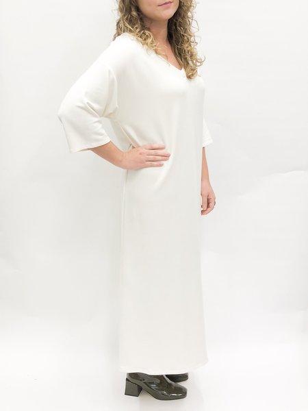 Corinne v-neck midi dress - CREAM