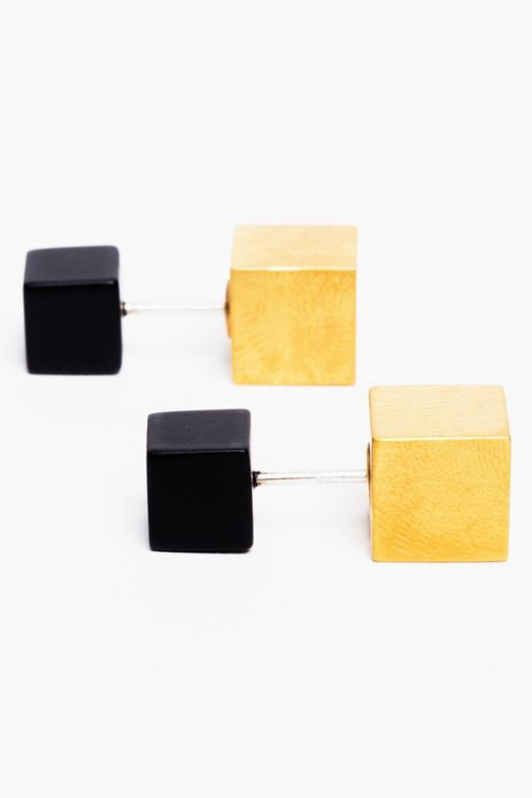 Ming Yu Wang Black Eclipse Earrings
