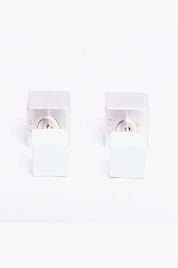 Ming Yu Wang White Eclipse Earrings