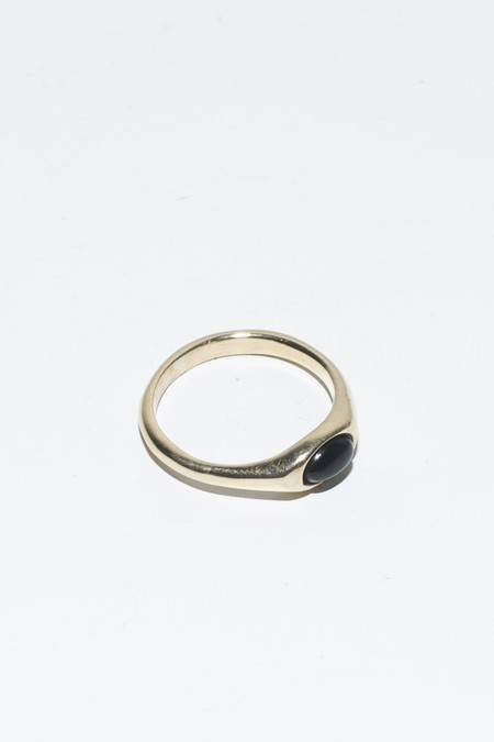 Nikolai Rose Onyx Round Set Ring