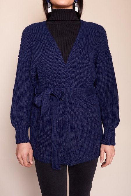 First Rite Sweater Coat - Lapis