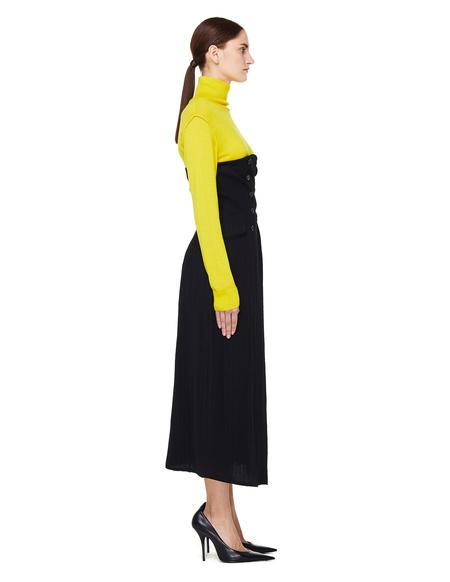 Ann Demeulemeester Oberon Striped Wool Convertible Skirt