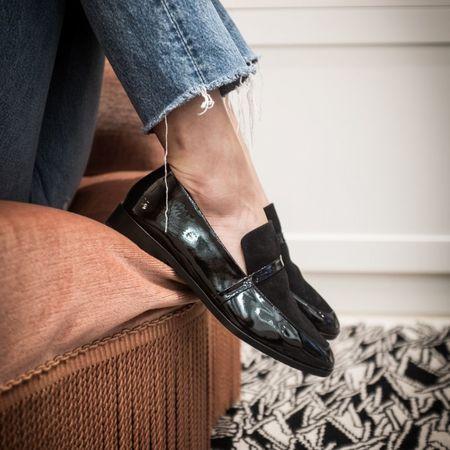 NewbarK Melanie patent leather loafers - black