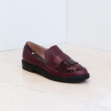 Aperlaï Loafers - Burgundy