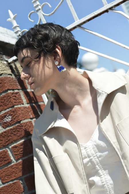 SVNR Chaouen Earrings - Lapis lazuli/Pearl