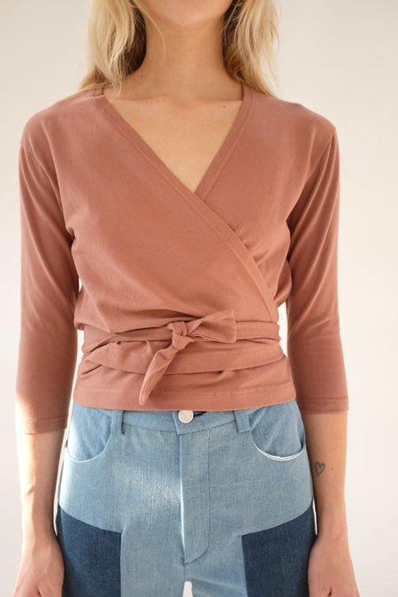 Beklina Kudu Wrap Top - Cinnamon