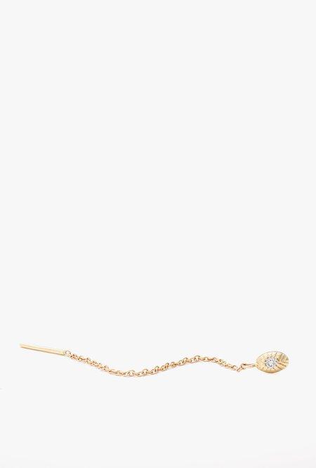 Ochre Objects Single Seedling Diamond Threader - 14k Gold/White Diamond