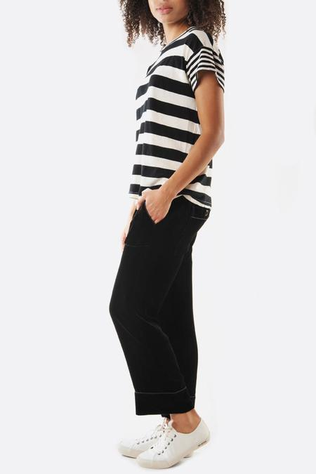 The Great. The Velvet Pajama Trouser - Black
