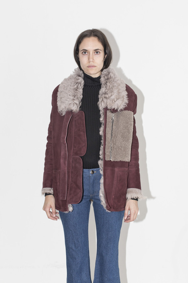 Sandy Liang Dyed Ines Shearling