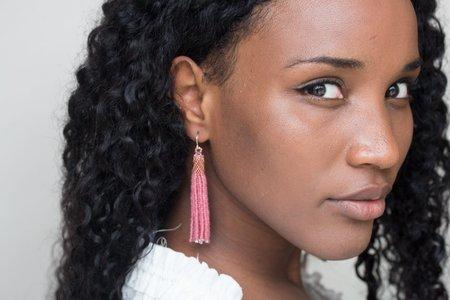 Zartiztry Tassel Earrings - Rose