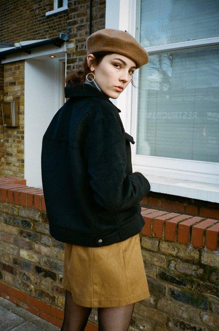 SIDE PARTY lenu patch pocket jacket - Black