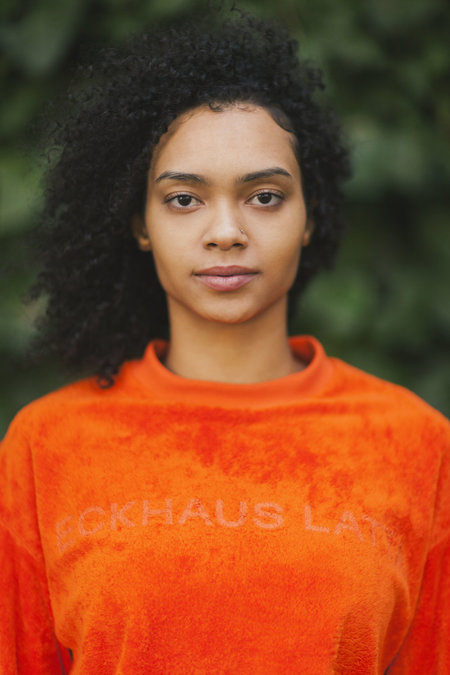 ECKHAUS LATTA SWEATSHIRT - ORANGE