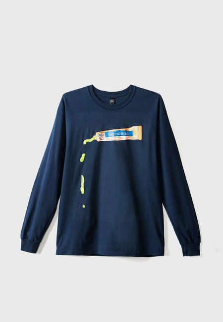 Brain Dead Ooze Long Sleeve T-Shirt - Navy
