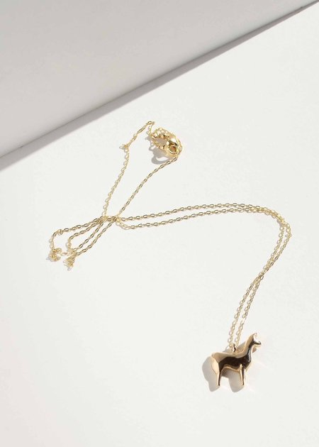 Minoux Jewelry Tiny Llama Necklace